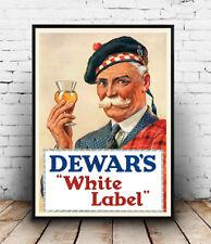 Dewars White Label: Whiskey Pubblicità poster riproduzione