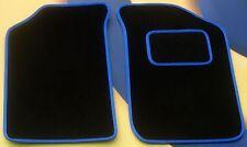BMW Z4 2004 Nero Su Tappeto Di Qualità Tappetini con bordo in contrasto blu B
