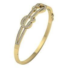 Bangle Bracelet I1 G 1.25 Carat Natural Diamond Set 14K Yellow Gold Appraisal
