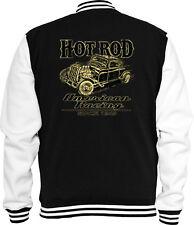 Hot Rod Sweat College Jacke American Racing Vintage V8 Rockabilly