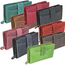 DV Fashions Medium Real Oil Leather RFID 3 Section 14 Card Womens Purse DV178
