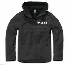 "Windbreaker "" Bremen "" bestickt - Schwarz/Weiss - M bis 3XL- ultras jacke sos"