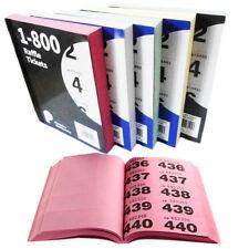 Raffle Books Colors 1-800 Bingo Tickets Duplicate Numbered Stapled Split Pot Fun