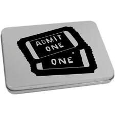 'Cinema Tickets' Metal Hinged Tin / Storage Box (vTT0015768)