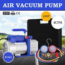 4CFM Vakuumpumpe Unterdruckpumpe Monteurhilfe Klimaanlagen 185W Drehschieber