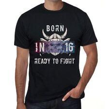 16 Ready to Fight Homme T-shirt Noir Cadeau D'anniversaire