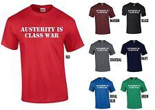 Sparpolitik ist Klassenkampf T-Shirt-Anti Tory Kürzungen Labour grün libdem SNP