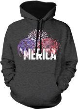 'Merica USA United States Of America Fireworks Fourth Two Tone Hoodie Sweatshirt
