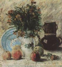 Vase With Flowers Coffee Pot & Fruit Van Gogh VG341 Art Print A4 A3 A2 A1