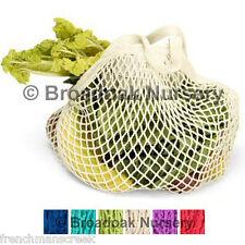 1 Turtle Bag ORGANIC COTTON STRING SHOPPING 6 Colours Short Handle Re-Usable Bag