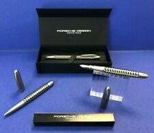 PORSCHE DESIGN Tec Flex steel-black Füllhalter M Tintenroller Kugelschreiber NEU