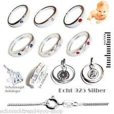 Taufring Taufe Engel Kette 925 Silber Schmuck Jungen Mädchen Baby Tauf Ring 507