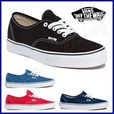 """VANS Scarpe """"AUTHENTIC"""" Shoes TELA Vari Colori UOMO Donna NUOVE New CLASSIC"""