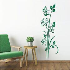 Blumen Wandtattoo  Blüten Wandsticker Wandbild Ranke Blume Schmetterling9