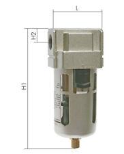 """Druckluft Filter Wasserabscheider Ölabscheider halbautomatisch 1/4"""",3/8"""",1/2"""",1"""""""
