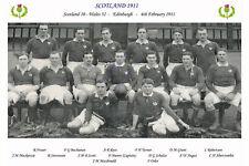 Écosse 1911 (V Pays de Galles, 4 février) Photographie de l'équipe de rugby