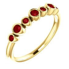 Genuine Ruby Bezel Set Ring In 14K Yellow Gold