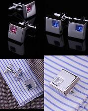 Silver Mens Cuff links Business Shirt Cufflinks Professional Wedding Cufflinks