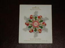 NIB HALLMARK ORNAMENT 2011 Savory Snowflake NEW KEEPSAKE