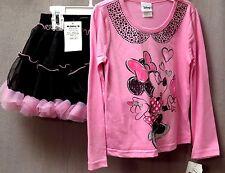 Minnie Mouse 2 Piece Tutu Skirt & Matching T-Shirt Sizes: 5 & 6 Super Cute BNWT