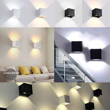 Modern LED Cube Wall Light Up Down Outdoor Waterproof Garden Sconce Lamp 12W SS