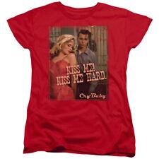 Cry Baby Kiss Me Womens Short Sleeve Shirt