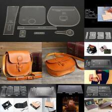 DIY Portfolio Leather Craft Acrylic Wallet Pattern Stencil Template Tool Set