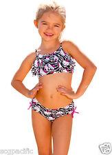 Hello Kitty Zebra Bikini Set Kids Sizes 4 5/6 6X Girls 2 PCs HK6514