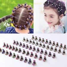 12PCS/Lot Small Cute Crystal Flowers Metal Hair Claws Hair Clip Girls Headdress