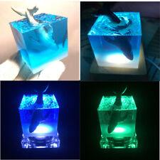 Creative Handmade Humpback Whale Cube + Base LED Kids Toys Birthday Xmas Gifts
