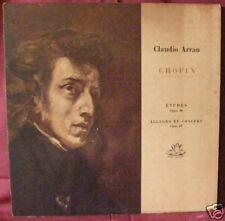 Claudio Arrau Chopin Etudes Allegro de Concert Angel