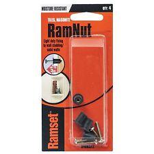 "Ramset RamNut ANCHOR 4Pcs Moisture Resistant *Aust Brand- 1/8""x4mm Or 3/16""x16mm"