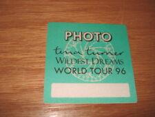 Tina Turner 1996 Tour Backstage Concert Photo Pass