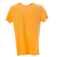 OLASUL Men's Orange Short Sleeve Pocket T-Shirt $60 NEW
