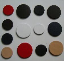 50 Stück Leder-Conchos runde Lederteile in 5 Farben mit Durchmesser 3,0 + 4,0 cm