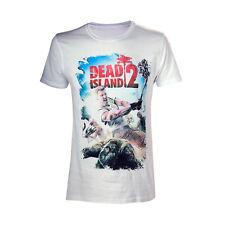 Licenza Ufficiale Dead Island Zombie Killer Gamer Bianco Maglietta a maniche corte
