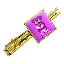 Peace Schnau Schnauzer Puppy Dog Retro Square Tie Bar Clip Clasp Silver or Gold