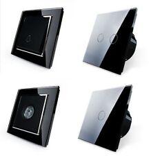 Livolo Interruttore luce vetro touchscreen DEVIATORE PRESA DI CORRENTE NERO