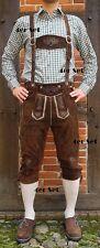 4tlg. Trachten Set Lederhose Baumwoll Hemd in grün weiss Kniestrümpfe Neu