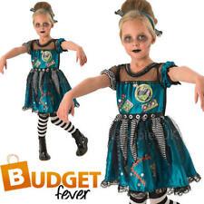 Girls Frankenstein Halloween Fancy Dress Zombie Frankie Childs Costume Outfit