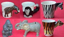 Spardose & Becher Keramik wilde Tiere Elefant Gorilla Spartopf