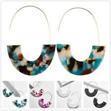 Fashion Women Acrylic Brass Hoops Earrings Bangle Drop Earrings Jewelry Gifts