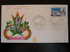 FRANCE PREMIER JOUR FDC YVERT 1889  LES JEUX OLYMPIQUES  1,2F PARIS 1976