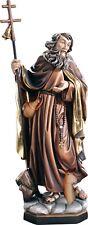 statue SAN TAUVEL AVEC TÊTE CERF Saint- VULMAR Cerf tête bois statues