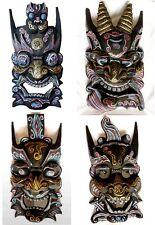 Holz-Maske,Sino tibetisch handgeschnitzte Maske Holzmaske