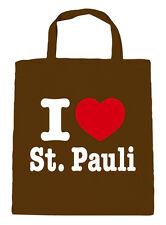 Baumwolltasche Stofftasche Tasche Shopper I love St. Pauli 08811