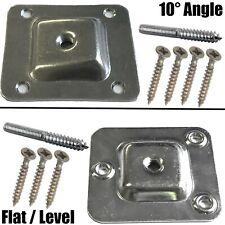 TABLE CHAIR SOFA LEG MOUNTING PLATE FLAT LEVEL 10° ANGLE WOOD METAL DOWEL SCREW