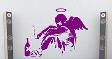 """Banksy Graffiti """"CADUTI Angel"""" ARTE Vinile Adesivi Da Parete Decorazioni 60 cm x 80 cm"""