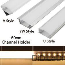 Wholesale U/V/YW Style 50cm Silver Aluminium LED Strip Bar Light Channel Holder