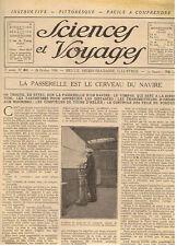 SCIENCES ET VOYAGES 1920 MARINE AUTOMOBILE ANNAM PORT DE NANTES ABEILLE